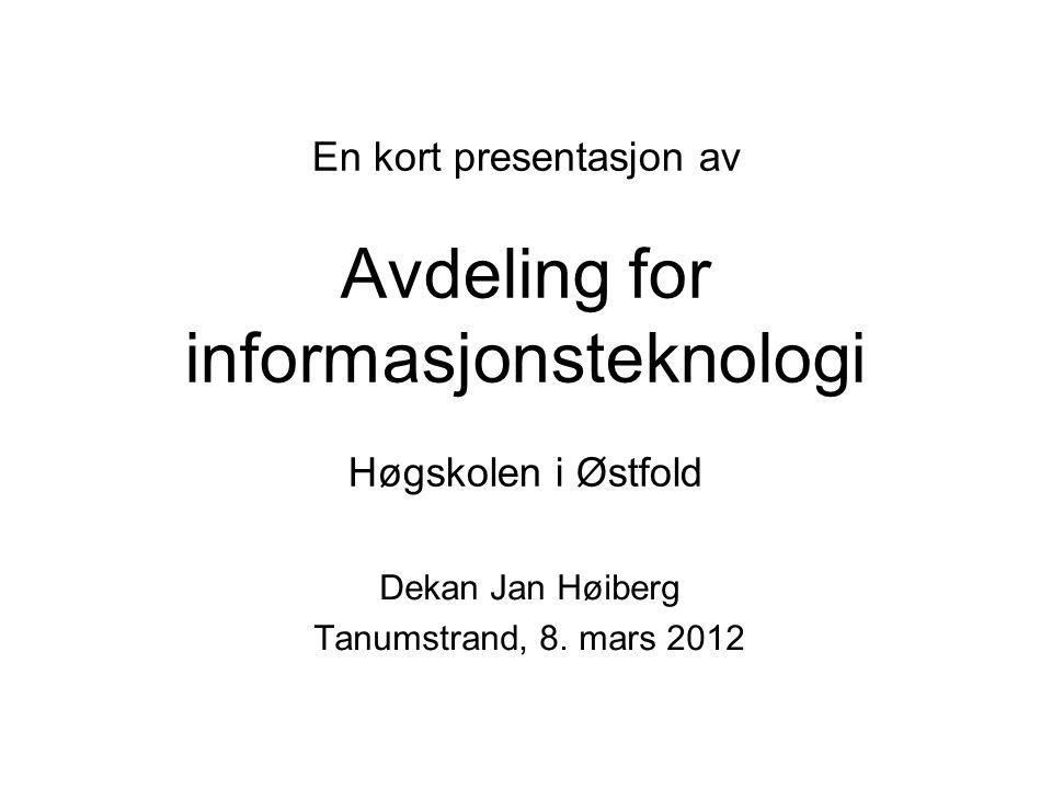 Dekan Jan Høiberg Tanumstrand, 8. mars 2012