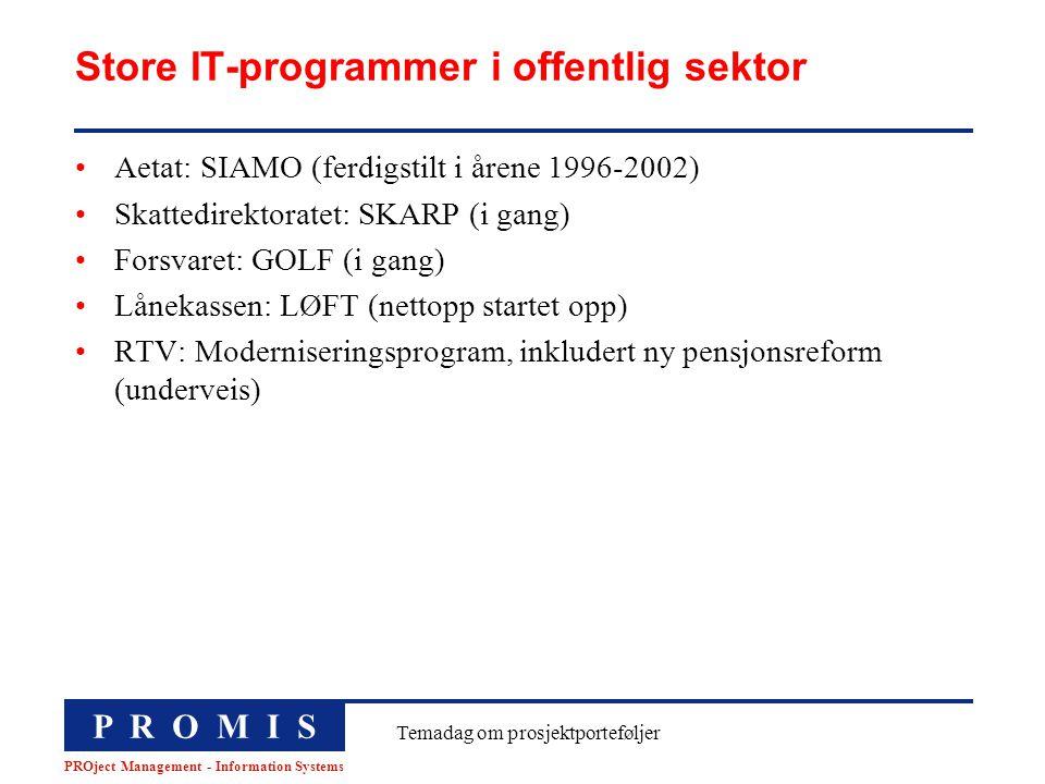 Store IT-programmer i offentlig sektor