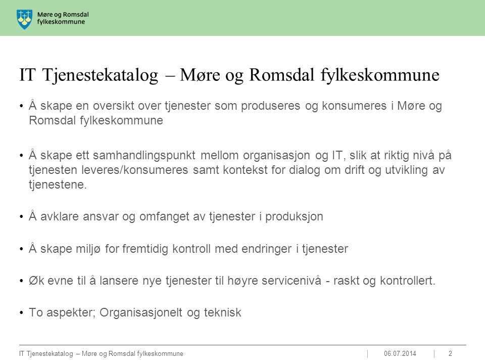 IT Tjenestekatalog – Møre og Romsdal fylkeskommune