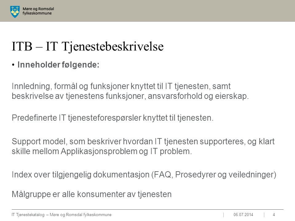 ITB – IT Tjenestebeskrivelse