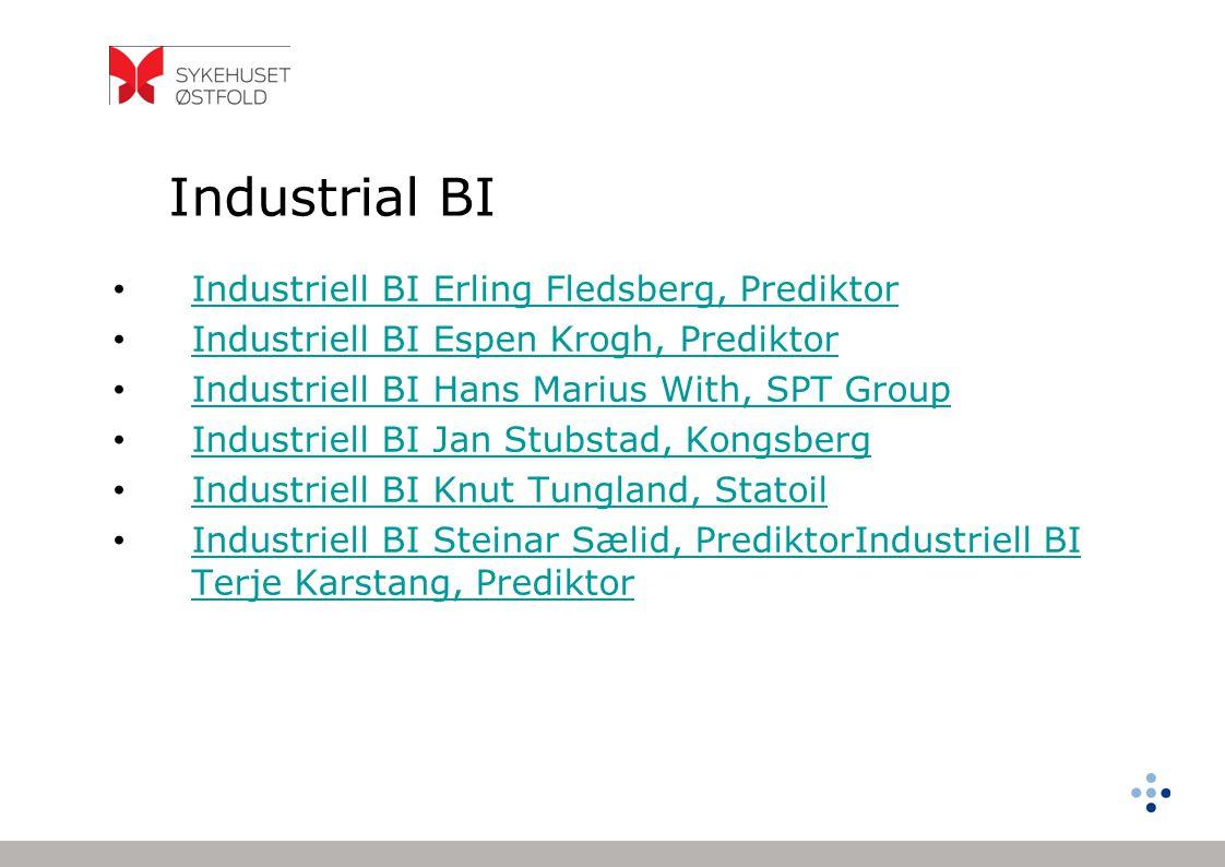 Industrial BI Industriell BI Erling Fledsberg, Prediktor