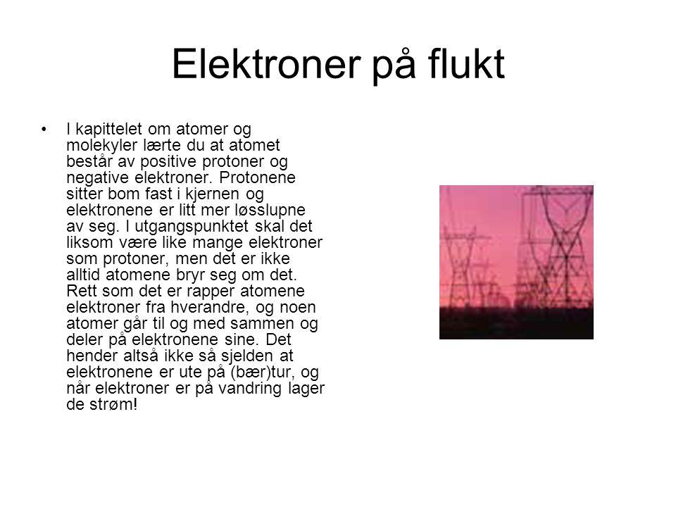 Elektroner på flukt