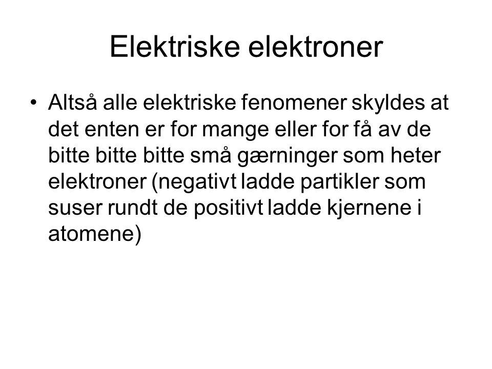 Elektriske elektroner