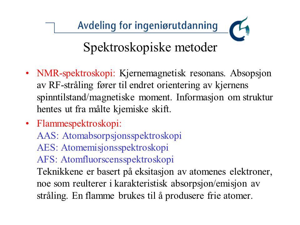 Spektroskopiske metoder