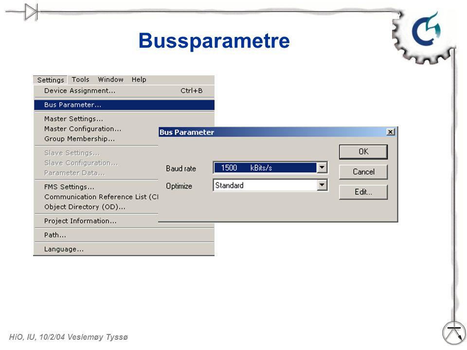 Bussparametre