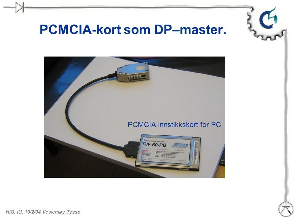 PCMCIA-kort som DP–master.
