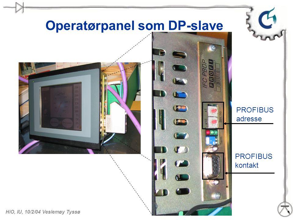 Operatørpanel som DP-slave