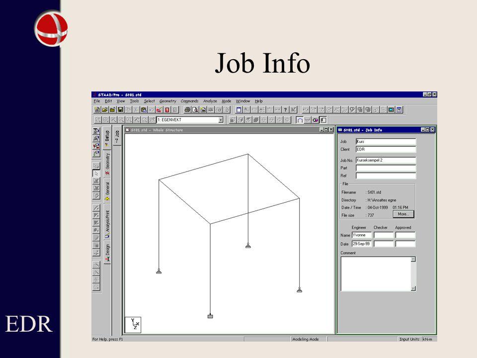EDR Job Info.