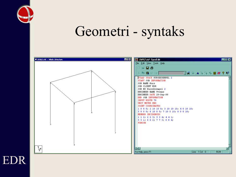 Geometri - syntaks EDR Eller…(se næsta sida)