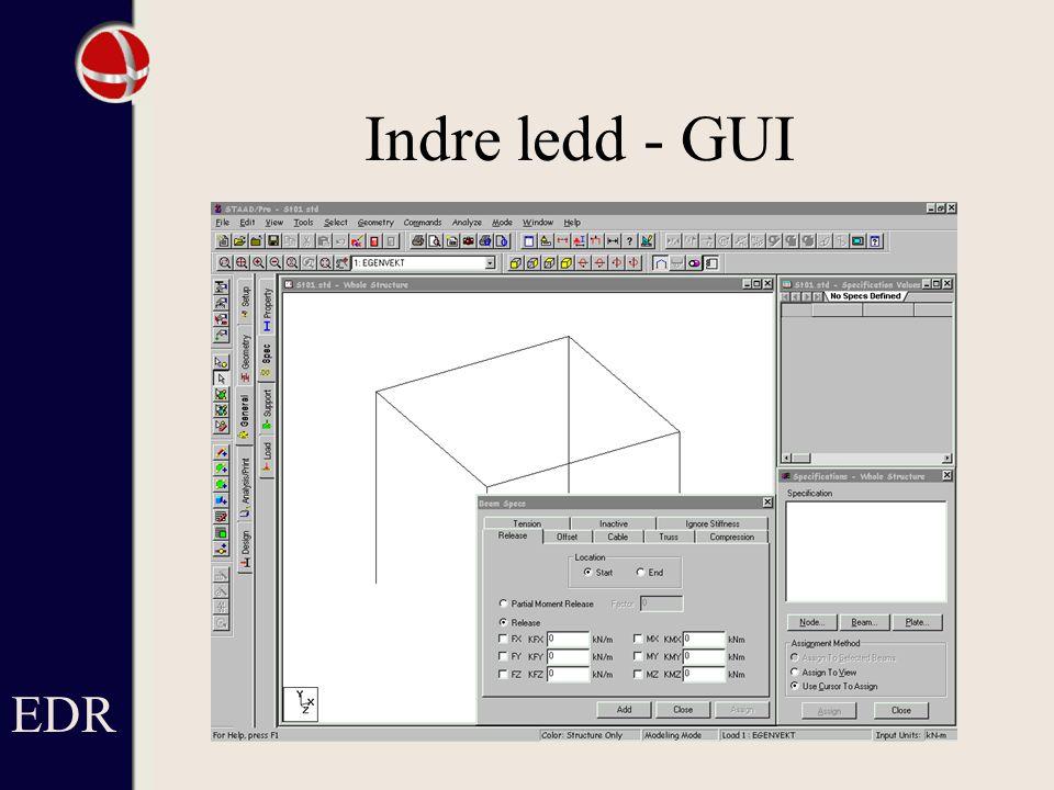 Indre ledd - GUI EDR Här är inget definierat ännu.