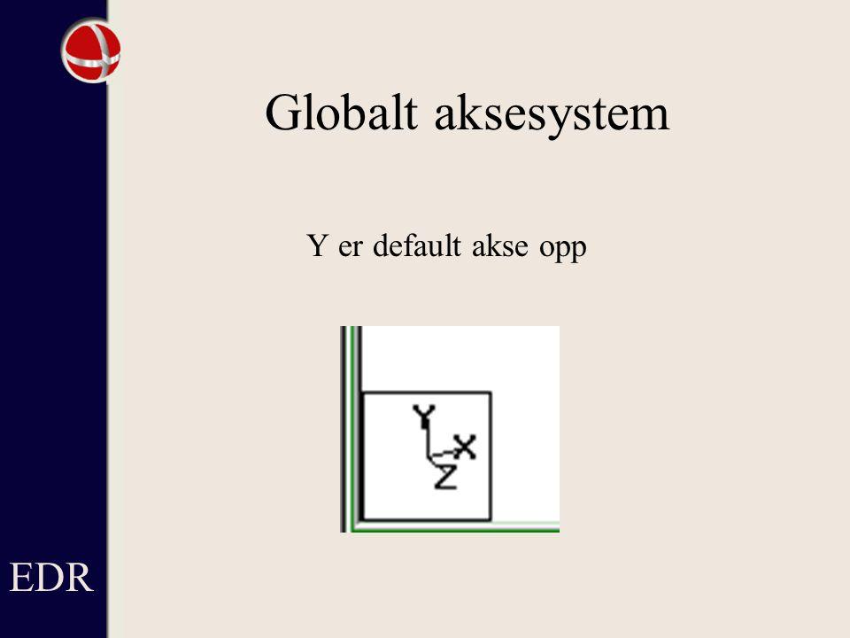 EDR Globalt aksesystem Y er default akse opp