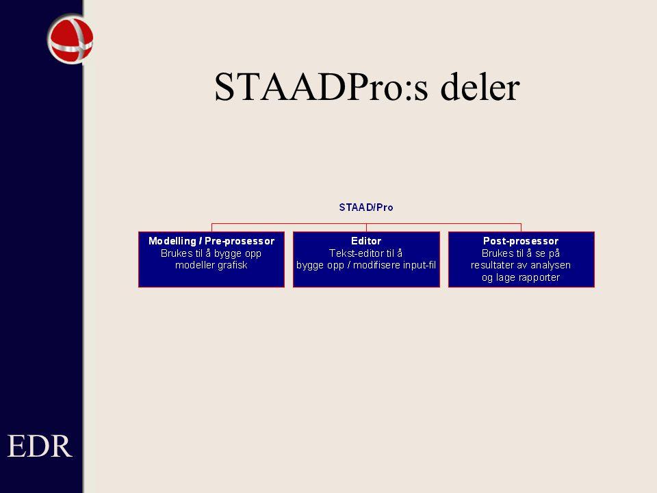 EDR STAADPro:s deler