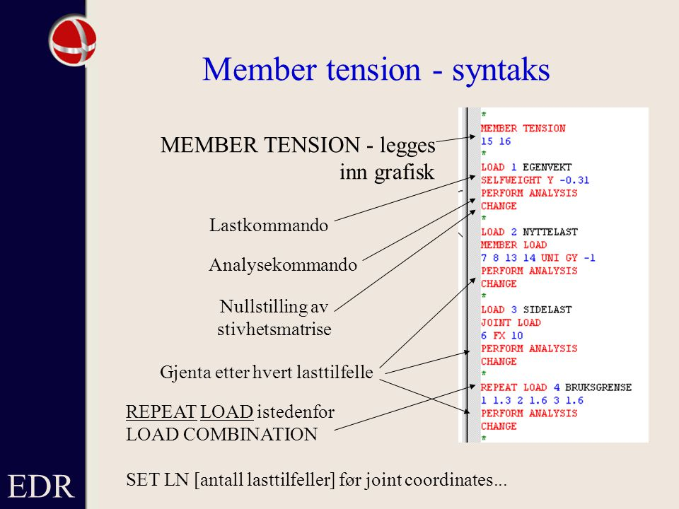 Member tension - syntaks