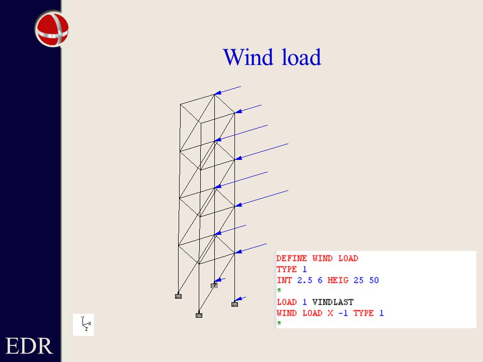 Wind load EDR
