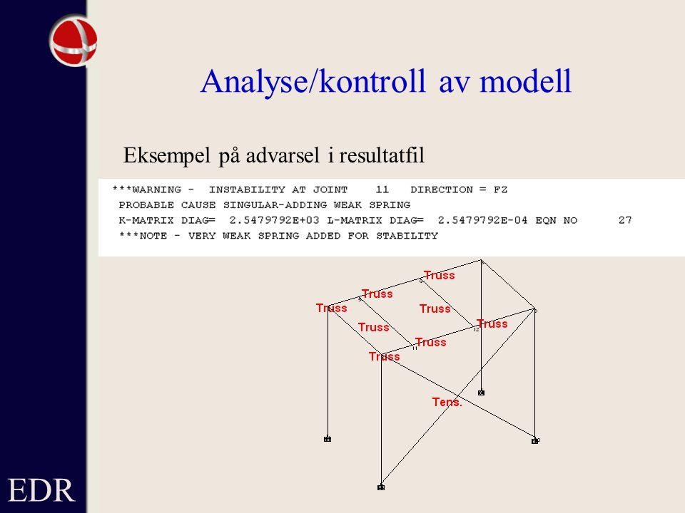Analyse/kontroll av modell