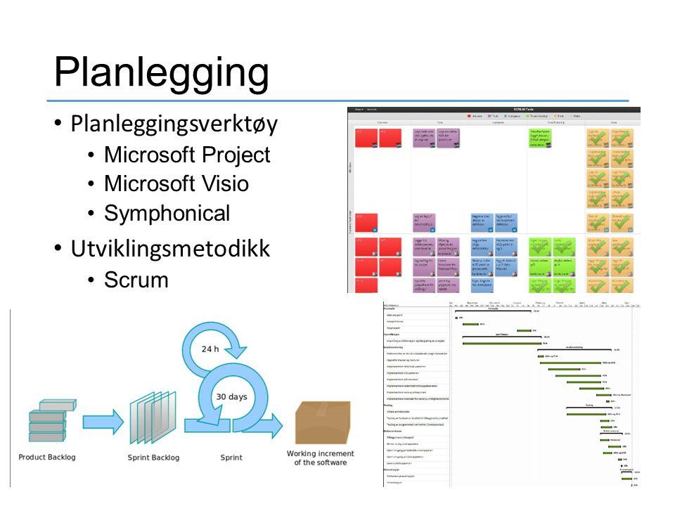 Planlegging Planleggingsverktøy Utviklingsmetodikk Microsoft Project