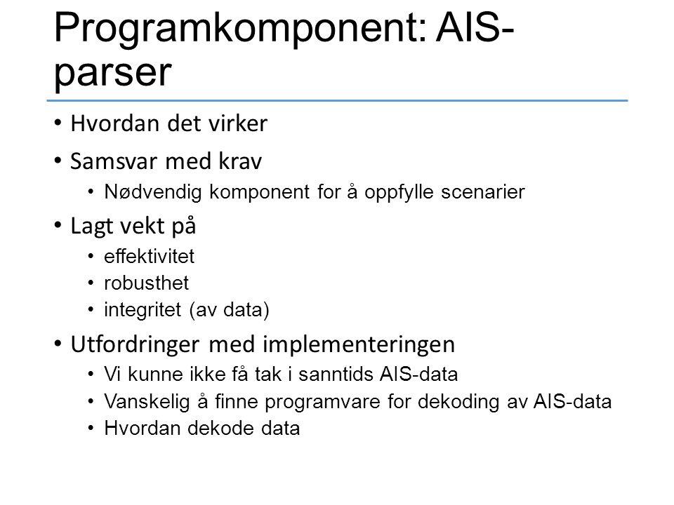 Programkomponent: AIS-parser