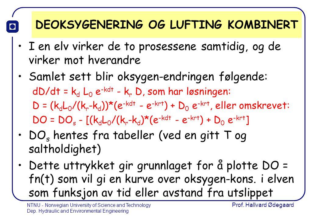 DEOKSYGENERING OG LUFTING KOMBINERT
