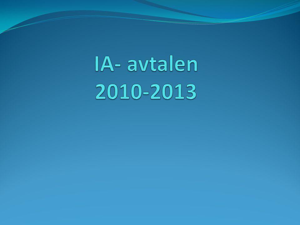IA- avtalen 2010-2013
