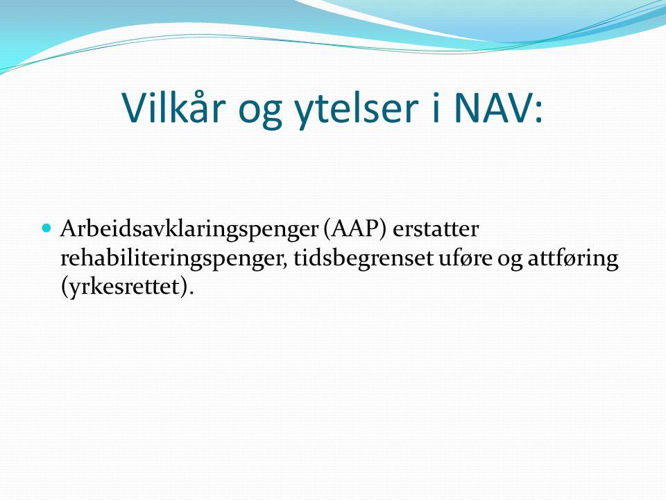 Vilkår og ytelser i NAV: