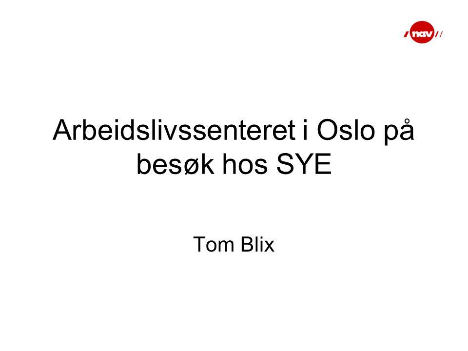 Arbeidslivssenteret i Oslo på besøk hos SYE