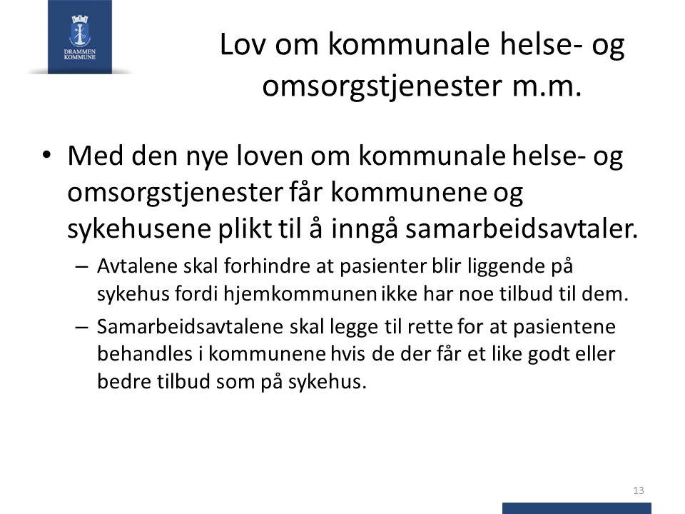 Lov om kommunale helse- og omsorgstjenester m.m.