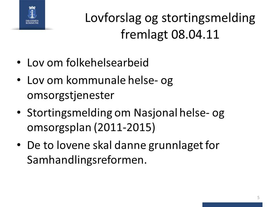 Lovforslag og stortingsmelding fremlagt 08.04.11