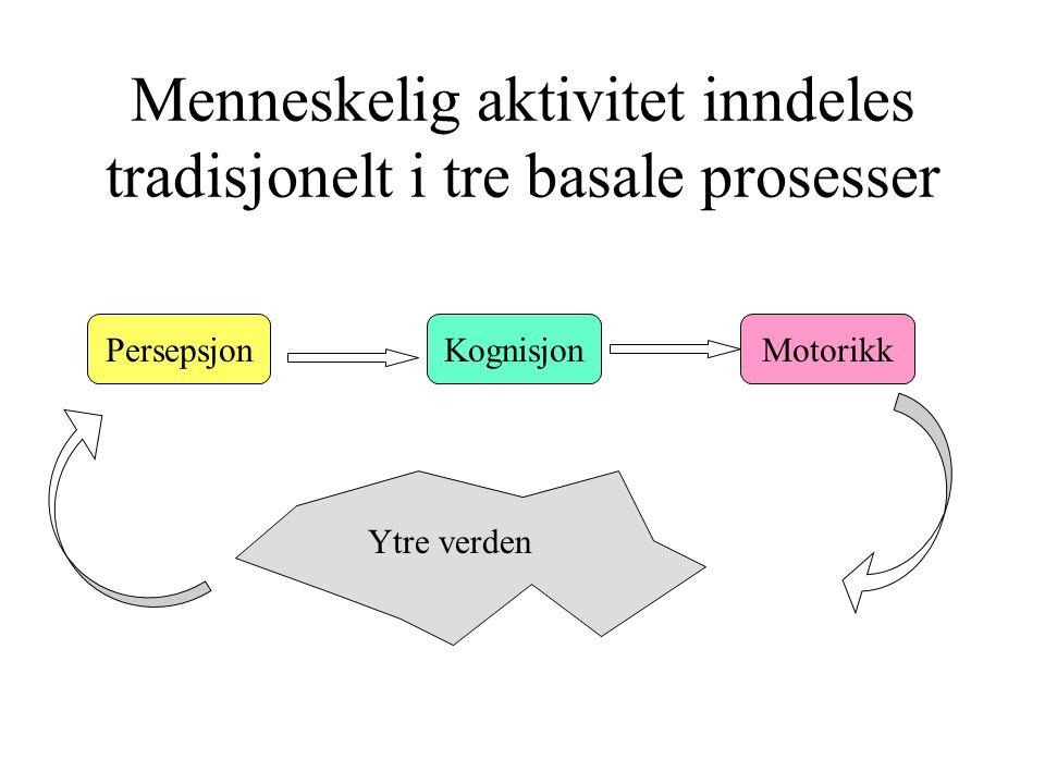 Menneskelig aktivitet inndeles tradisjonelt i tre basale prosesser
