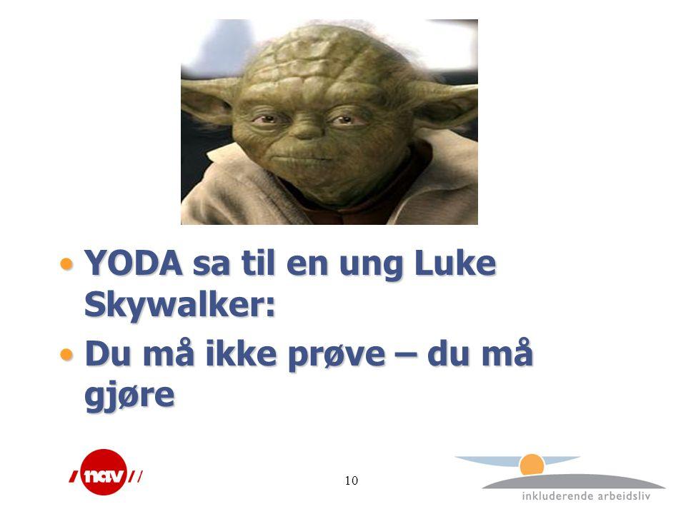 YODA sa til en ung Luke Skywalker: