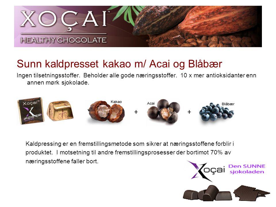 Sunn kaldpresset kakao m/ Acai og Blåbær