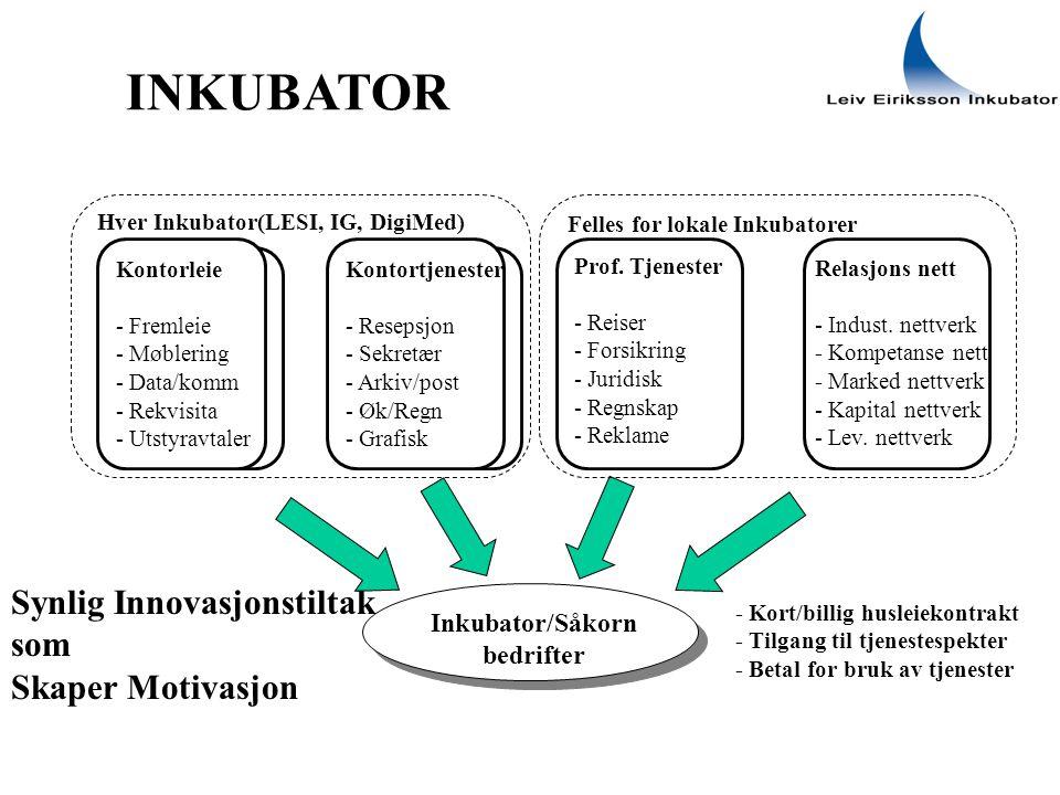 Inkubator/Såkorn bedrifter