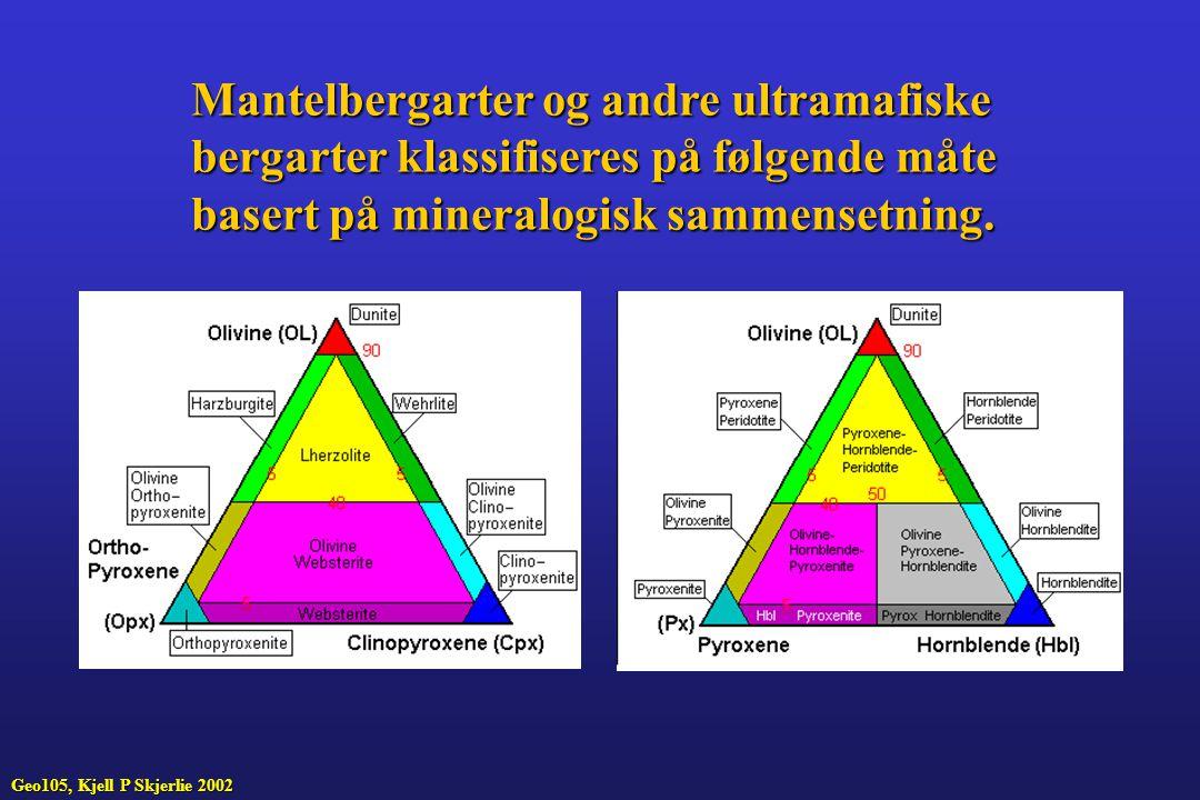 Mantelbergarter og andre ultramafiske
