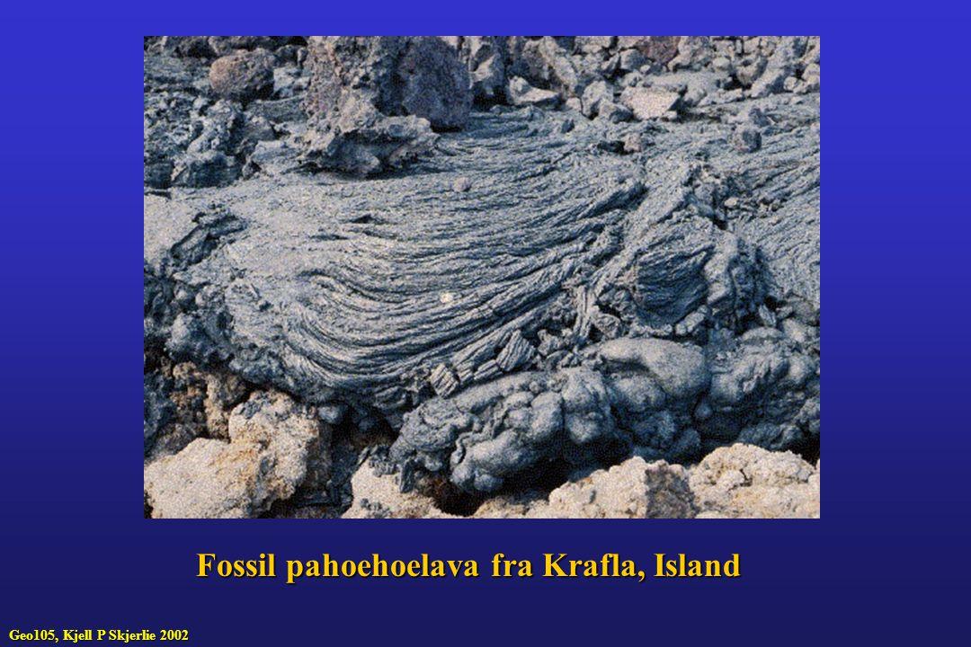Fossil pahoehoelava fra Krafla, Island