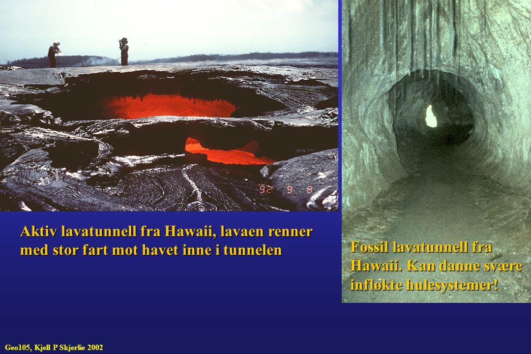 Aktiv lavatunnell fra Hawaii, lavaen renner