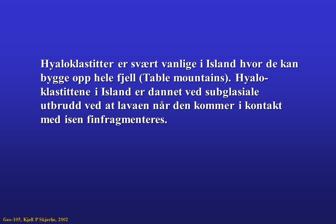 Hyaloklastitter er svært vanlige i Island hvor de kan