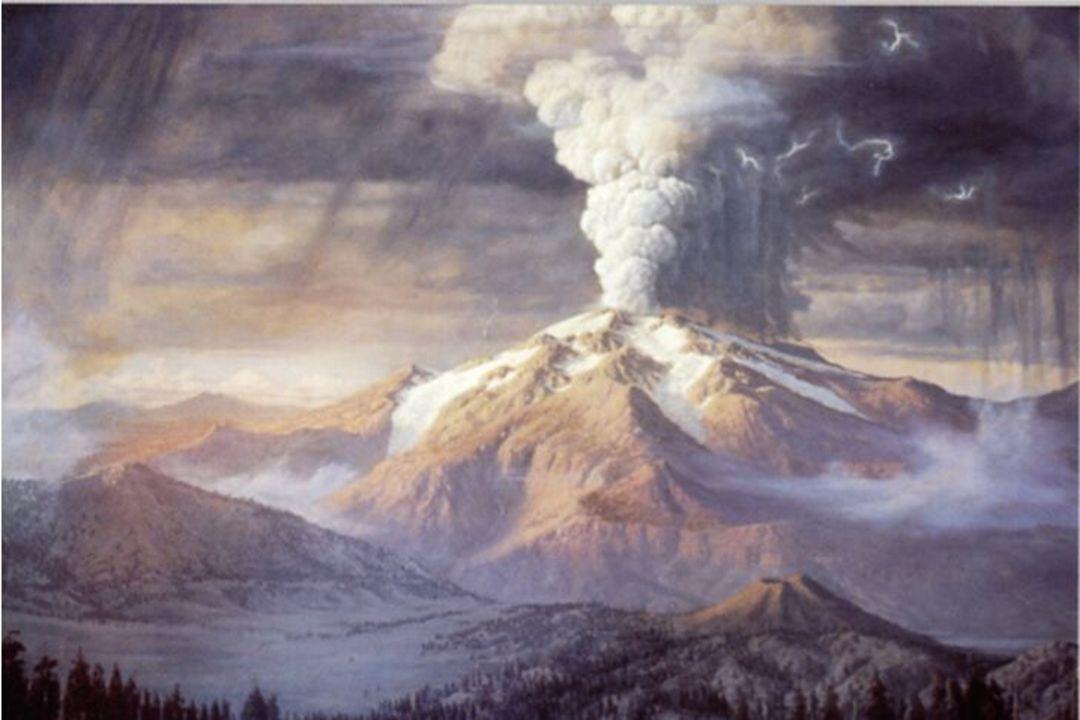 Her i Crater Lake, Oregon, er hele vulkanen sprengt vekk