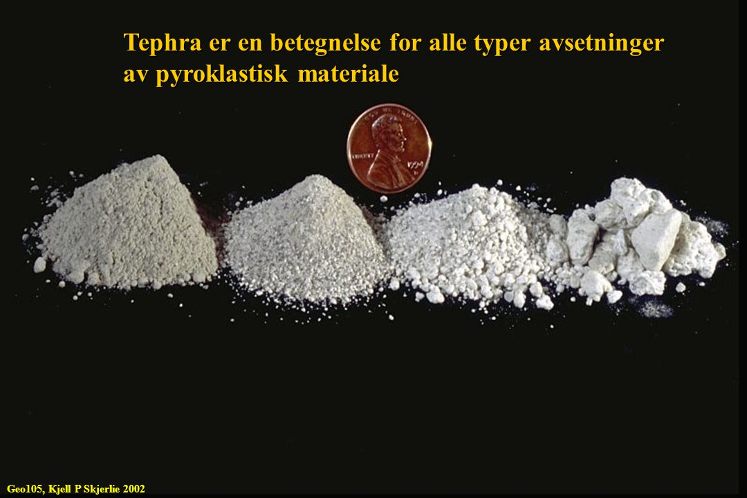 Tephra er en betegnelse for alle typer avsetninger