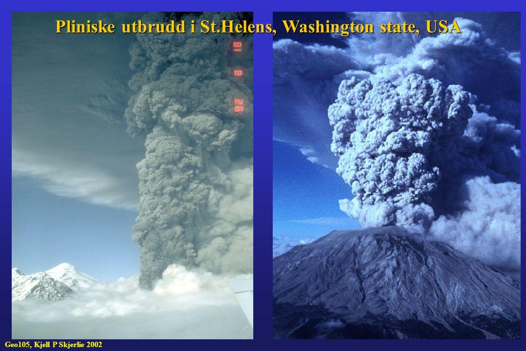 Pliniske utbrudd i St.Helens, Washington state, USA
