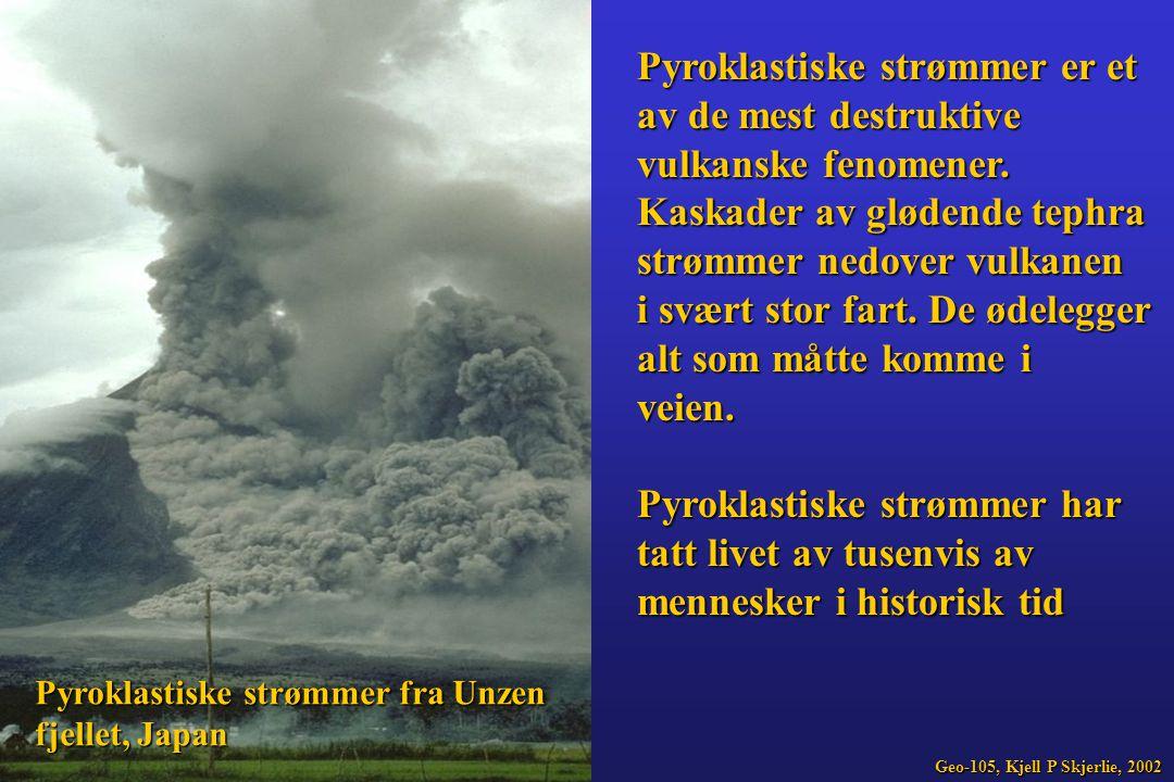 Pyroklastiske strømmer er et av de mest destruktive