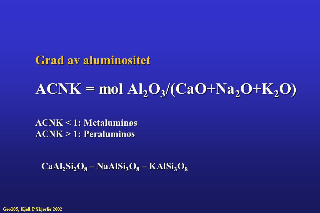 ACNK = mol Al2O3/(CaO+Na2O+K2O)