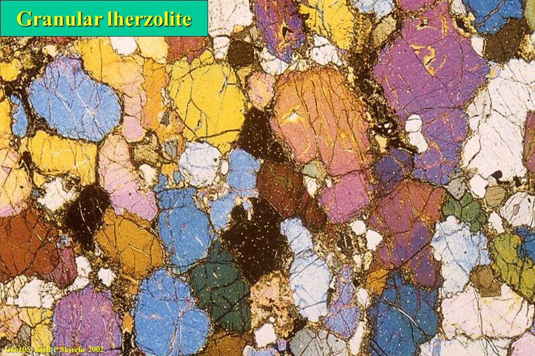 Granular lherzolite Geo105, Kjell P Skjerlie 2002