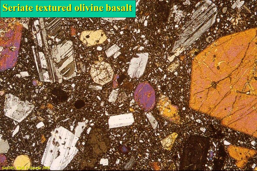 Seriate textured olivine basalt