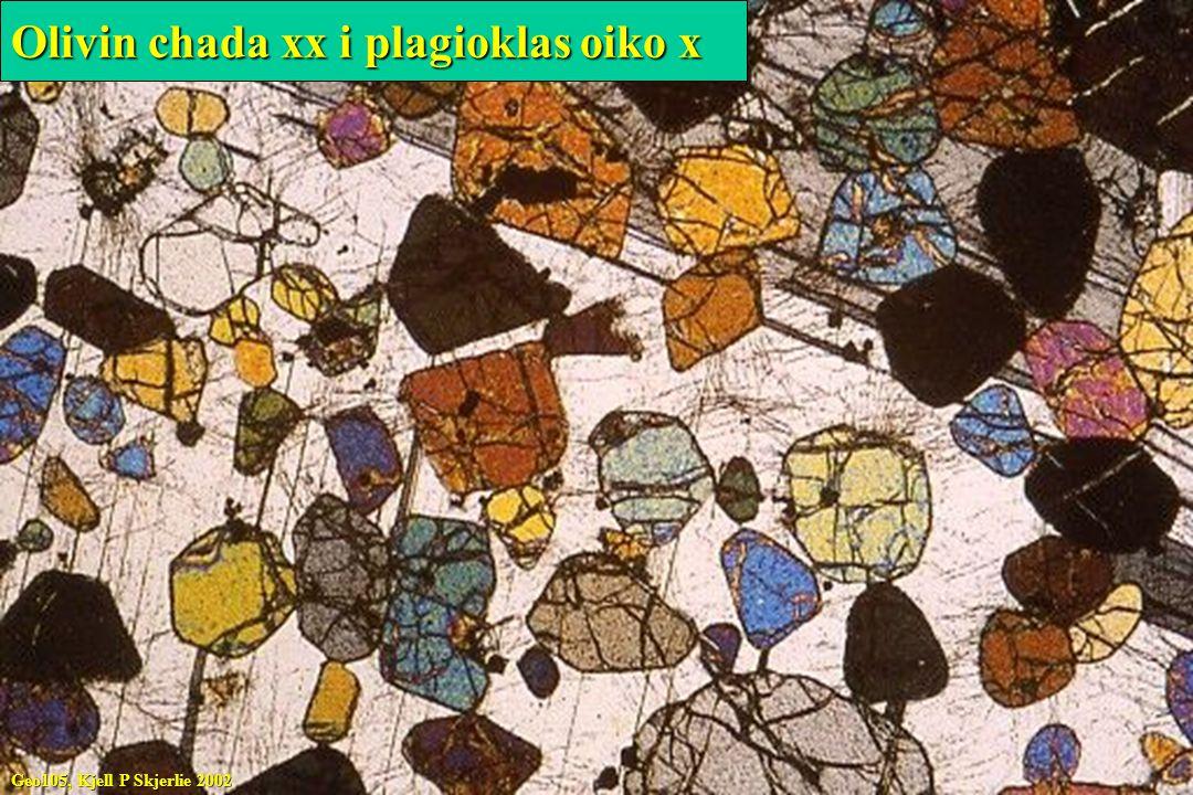 Olivin chada xx i plagioklas oiko x