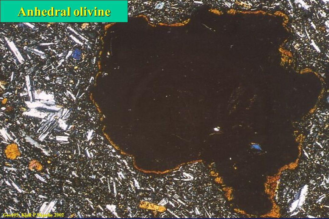 Anhedral olivine Geo105, Kjell P Skjerlie 2002