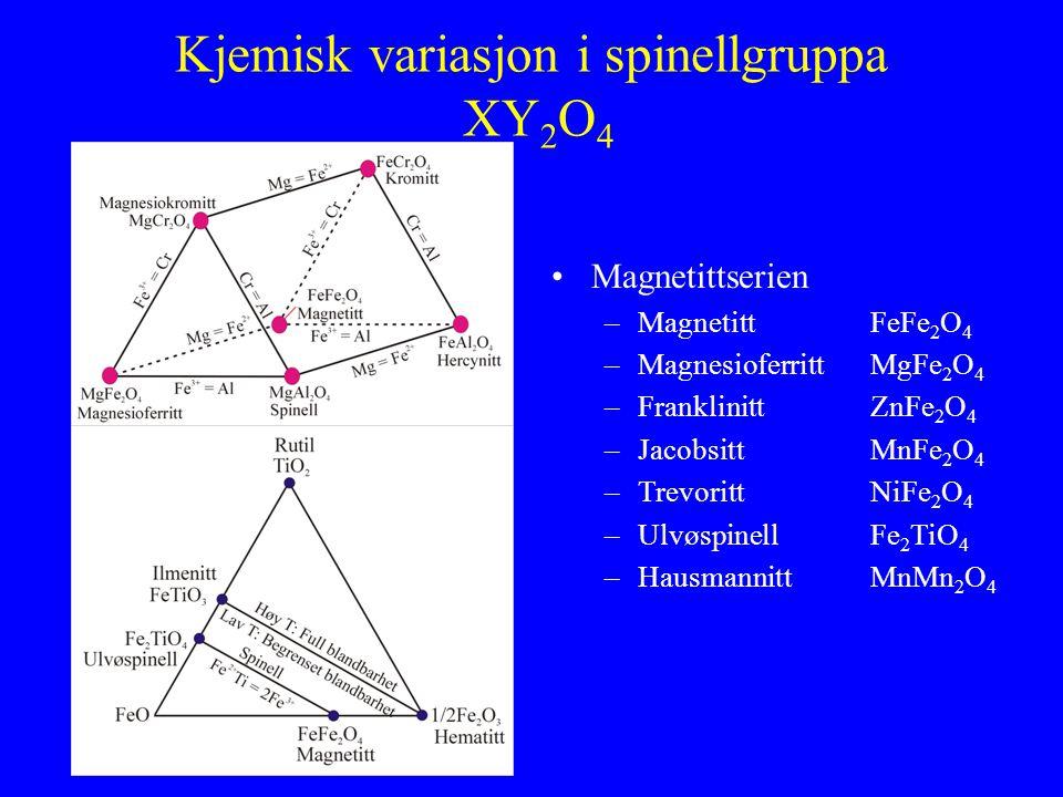Kjemisk variasjon i spinellgruppa XY2O4