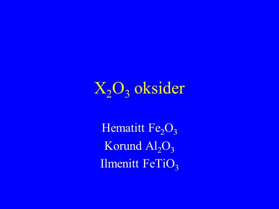 Hematitt Fe2O3 Korund Al2O3 Ilmenitt FeTiO3