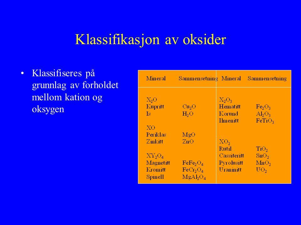 Klassifikasjon av oksider