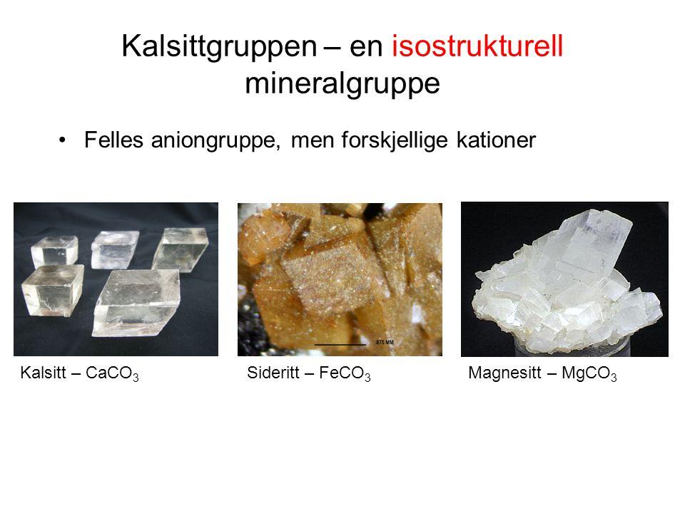 Kalsittgruppen – en isostrukturell mineralgruppe