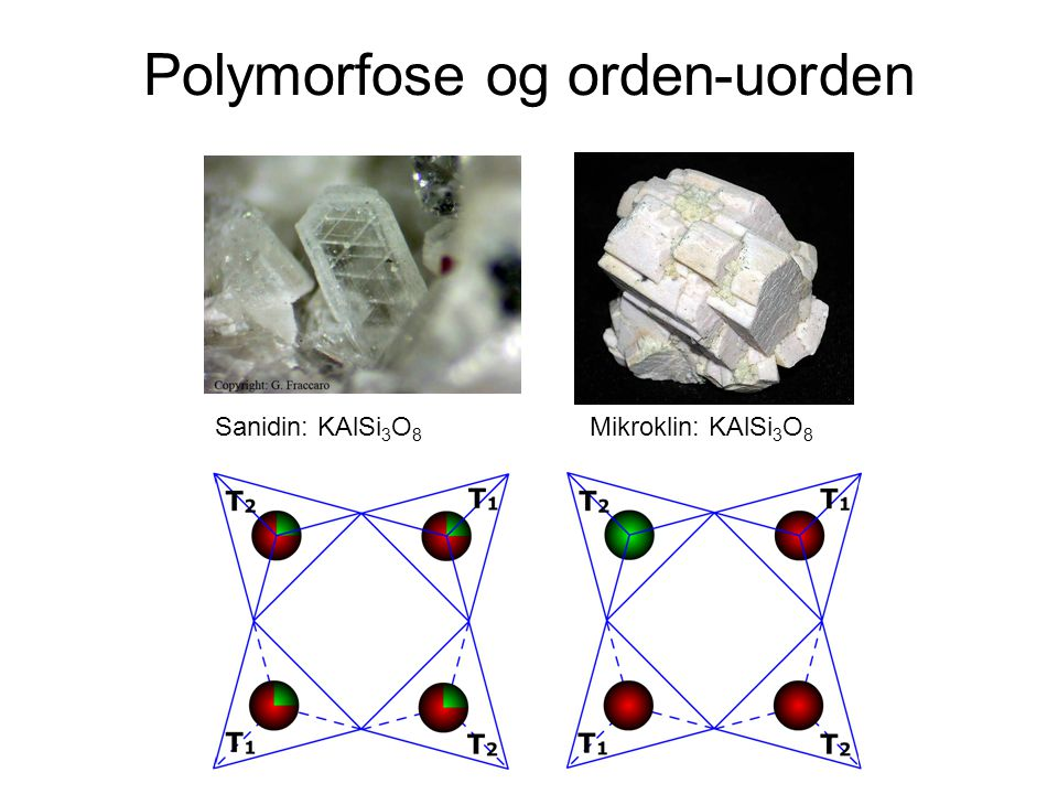 Polymorfose og orden-uorden