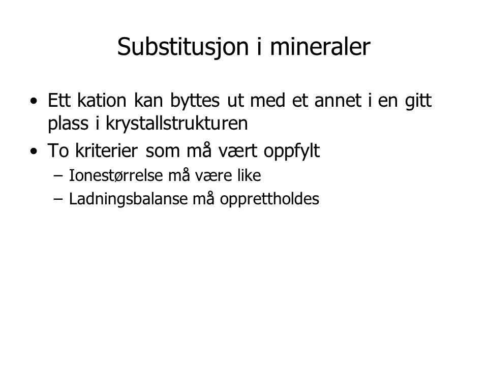 Substitusjon i mineraler